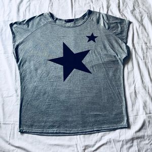 Star // Slouch Oversized Tee Shirt // 2X - 3X Plus